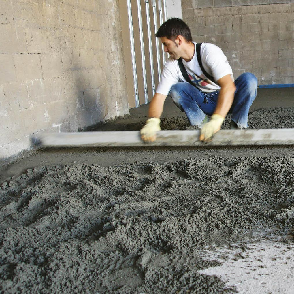 Soleras de mortero semiseco o autonivelante