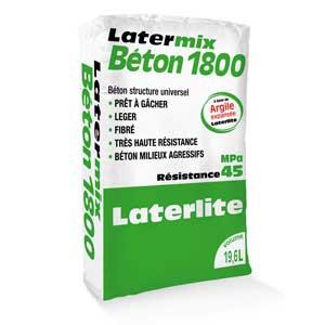 Latermix Béton 1800 : Hormigón estructural 45 MPa aligerado